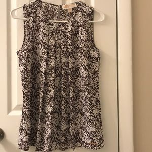 Michael Kors floral polyester sleeveless top XS